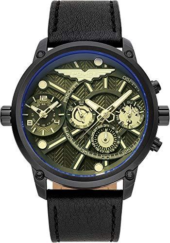 Police Herren-Uhren Analog Quarz One Size Leder 87697045