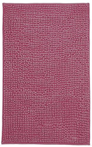 Brandseller - Alfombrilla de baño moderna de chenilla (50 x 80 cm), color morado