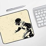 Lanqianwan Mouse Pad Tapis de Souris Gaming Ultra Mince,Joueur de Rugby en Action Course à Pied Succès au Terrain de Jeu de l'arène Sport Portrait d'équipe, Beige BL,pour Bureau et Maison