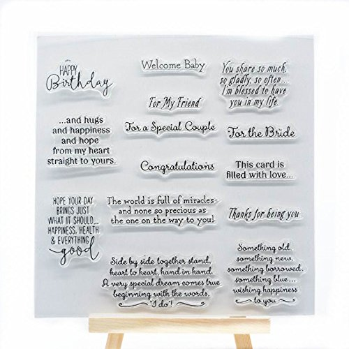Welcome to Joyful Home 1pc Sentiment Rubber Clear Stamp for Card Making Decoration and Scrapbooking