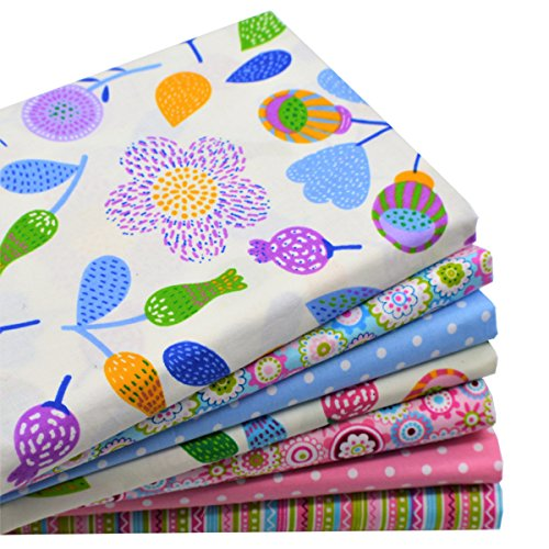 iNee Floral Fat Quarters Quilting Fabric Bundles for Quilting Sewing Crafting, 18 x 22 inches, (Floral)