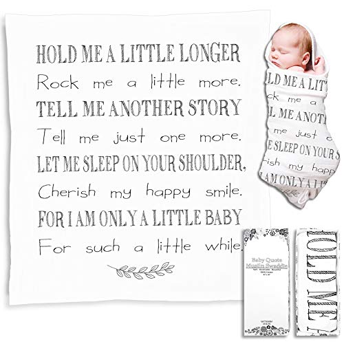 New Baby Gifts for Boys and Girls, White Muslin Swaddle Blankets for Baptism, Christening, Godchild, Baby Shower, Newborn Gift