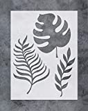GSS Designs Palm Frond Wall Art Stencil - Tropical Banana Leaf Painting Airbrush Stencil (12x16inch) - Reusable Template for Wood Canvas Furniture Wall Home Decor (SL-054)