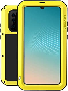 LOVE MEI Case Fit for Huawei P30 Pro (6.47 Inch Screen), Waterproof Shockproof Dustproof Aluminum Metal with Tempered Glass Cover [Two-Years Warranty] Win-1201