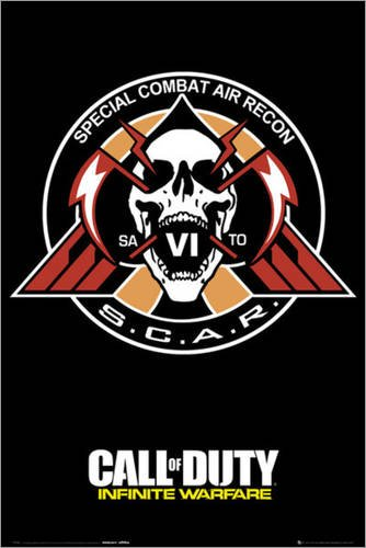 Póster Call of Duty: Infinite Warfare - Scar - cartel económico, póster...