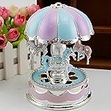 6SHINE Karussell Spieluhr Dream Castle Merry-Go-Round Box mit Taschenlampe, für Café, Buchhandlung, Wohnzimmer, Hochzeit, Party und Geburtstagsgeschenk
