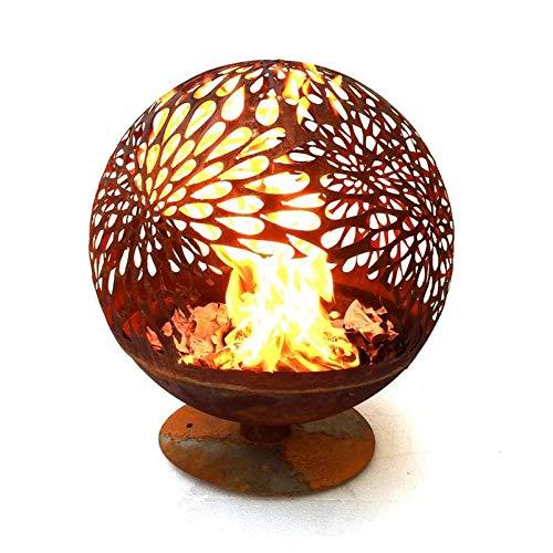 garten-wohnambiente Feuerstelle Romantik aus Baustahl 60 x 60 x 65 cm