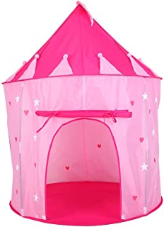 Kids Playing Tent, Portable Children Princess Castle Playhouse Dollhouse for Kids Babies Toddlers Girls Boys Good Gift Glow in The Dark Stars