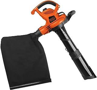 Black+Decker Soplador eléctrico de Hojas 3 en 1, aspiradora de Hojas, triturador, 12 amperios (BV6600)