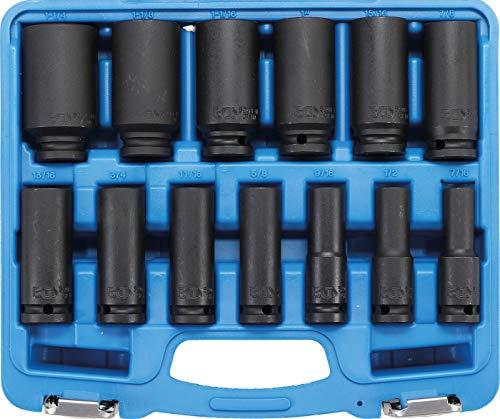 BGS 5208 | Kraft-Steckschlüssel-Einsatz-Satz Sechskant, tief | 12,5 mm (1/2