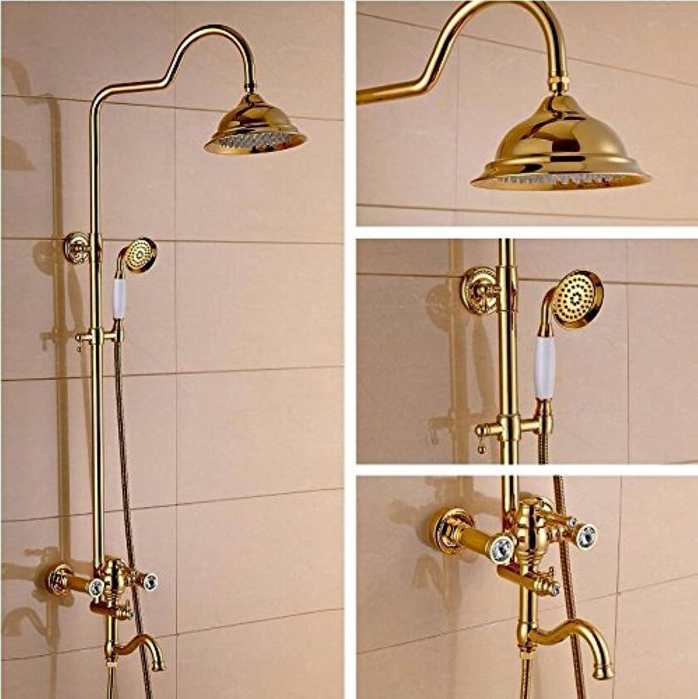 Dusche Bad Dusche EuropIscher Stil VerGoldet Kupfer Duschset Aufzug Dritter Gang HandgefüHrt.