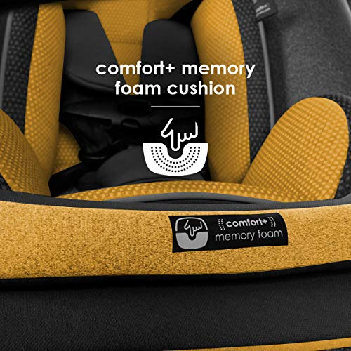 Diono Radian 3QXT 4-in-1 Rear and Forward Facing Convertible Car Seat, Safe Plus Engineering 4 Stage Infant Protection, 10 Years 1 Car Seat, Slim Design - Fits 3 Across, Yellow Mineral