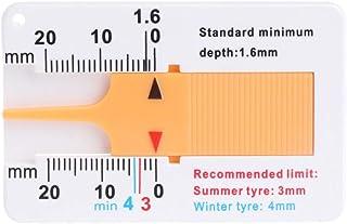 Vektenxi 2 stücke Reifen Profiltiefenmesser für Auto Motorrad Anhänger, Van Rad Keychain Messwerkzeug Langlebig und Nützlich
