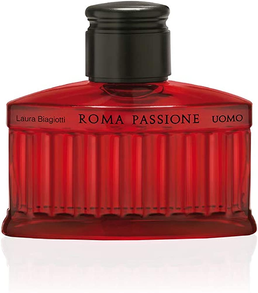 Laura biagiotti,roma passione uomo, eau de toilette, spray, - 125 ml F11N004