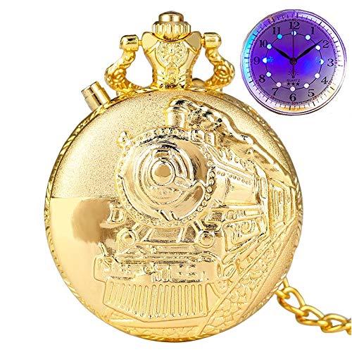 LEYUANA Reloj de Bolsillo de Cuarzo con Flash LED noctilucen