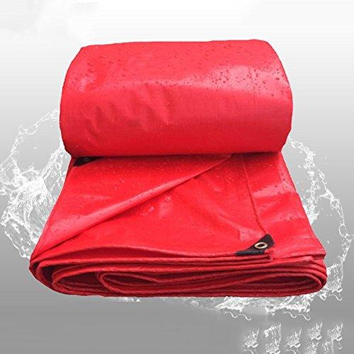 QIANGDA De Plein Air Feuille De Bâche Polyéthylène Toile D'auvent Imperméable Super Anti Poussière Résistant Au Froid, 160g / M², Rouge, 7 Tailles (Taille : 3 x 4m)