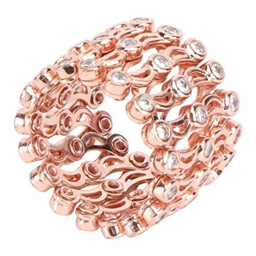 Happyyami Faltbare Versenkbare Ring Armband Elastische Stretch Strass Armband Ring Braut Strass Armreif Hochzeit Armband Schmuck für Frauen Dame Weihnachten Geschenk Party Zugunsten