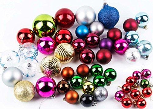 Lot de 6 60 mm Boules-Multi Finition Décorations pour arbres de Noël-Blanc