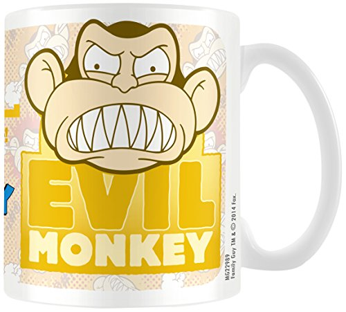 Family Guy MG22989 (Monkey) Mug, Multicolore, 11oz/315ml