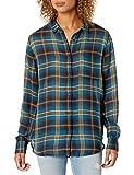 Pendleton Women's Helena Button Front Shirt, Blue Plaid, MD