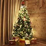 SALCAR Weihnachtsbaum künstlich 180cm mit 580 Spitzen, Tannenbaum künstlich regenschirmsystem inkl. Christbaum-Ständer, Weihnachtsdeko - grün 1,8 m - 2