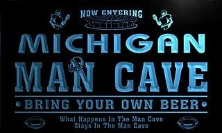 ADVPRO qa2022-b Michigan State Cities Man Cave Football Bar Neon Beer Light Sign