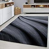 Modern Style Rug WAVES Design Bl...