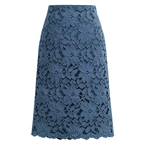 Damen Mode Petticoat 50er Kurz Tanzkleid Ballkleid Sexy Abendkleid Partyrock Spitzenrock aushöhlen Rock knielangen Rock