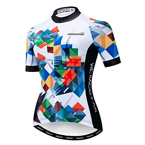 Hotlion Sommer Atmungsaktiv Radtrikot Damen Mountainbike Jersey Schnelltrocknend Fahrradshirt Kurzarm Radbekleidung, Cf2243, XXX-Large