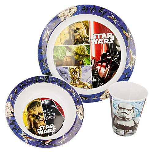 Lot de 3 Micro Kids Star Wars Classic - Pot et Bol 260 ML