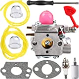 Kizut WT-875 Carburetor for Craftsman Poulan Blower BVM200VS BVM200C P200C Pro PP320 P325 GBV325 PPB1838LE PL855 Weedeater Walbro WT-875A 545081855 Carb w Carburetor Adjustment Tool Parts Kit
