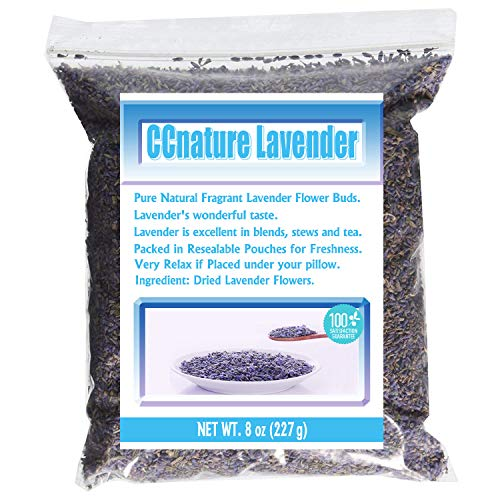 CCnature Lavender Flowers Dried Lavender Buds Culinary Grade 8oz
