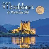 Mondplaner - Broschur Kalender 2021 - Korsch-Verlag - Kalender mit Platz für Eintragungen - offen 29,8 cm x 59,8 cm