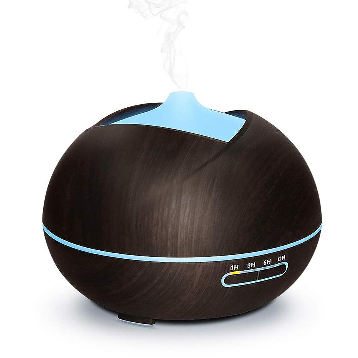 どれロマンチック巨人1ではアロマディフューザー加湿器ナイトライト3、7色LEDライト、ベッドルームオフィスの4タイマ水なしオートオフで超音波クールミスト加湿器 (Color : ブラウン)