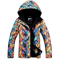 【WINDPROOF SKI JACKET】 Adjustable double-layer velcro windproof cuffs, stretchable glove with thumb hole to keep you from wind during skiing/snowboarding. Hem inside windproof shirt and detachable adjustable storm hood helps to keep wind out. All the...