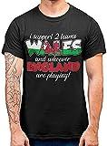 Wales Rugby T-shirt humoristique de rivalité galloise Angleterre Support supérieur 2 équipes Cymru Noir - Noir - Large