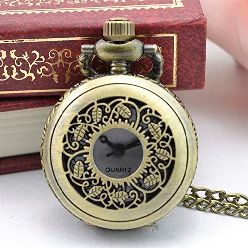 NOBRAND Pocket horloge, Style Horloge Retro Brons Ontwerp Zakhorloges Met Ketting Mannen Steampunk Hanger Ketting Pocket Horloge Gift Voor Liefhebbers Willekeurig