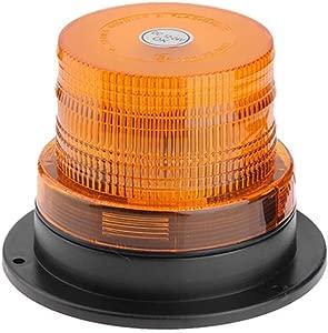 Everpert Emergency Strobe LED Beacon Light  Magnetic 12V 24V Car LED Warning Light Emergency Vehicle Flashing Beacon Lamp  Amber