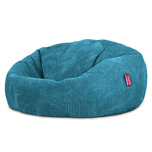 Lounge Pug®, Sitzsack Sofa, Relaxsessel, Pom-Pom Türkis