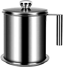 Grease Strainer Pot, Stainless Steel Oil Storage Can Container, 49 oz / 67oz Oil Canister Kitchen, with Fine Mesh Strainer...