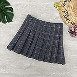 HSDFKD Minifaldas para Mujer Otoño Invierno Faldas A Cuadros Faldas Cortas, Cuadros Naranja, Talla Única