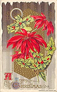 Christmas Post Card Antique Xmas Postcard John Winsch Publishing 1912