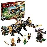 LEGO Ninjago 71736 Le Jet Multi-Missiles, Jouet d'avion Boulder Blaster avec Prison et Figurine de Ninja Kai Or à Collectionner