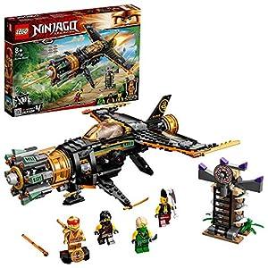 """Das LEGO NINJAGO Legacy Spielset """"Coles Felsenbrecher"""" (71736) enthält eine überarbeitete Version des supercoolen Fliegers und ein Ninja-Gefängnis, um ein actionreiches Spielerlebnis zu vermitteln Enthält 4 Minifiguren: die Ninja Cole, Lloyd und Kai ..."""