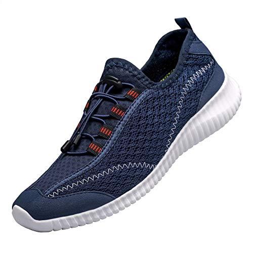 [MOXOCO] 運動靴 レディース ウォーキングシューズ メンズ ジョギングシューズ ランニングシューズ トレーニング カジュアル 軽量 クッション性 幅広 通学 通勤 日常着用 ブルー23.0cm