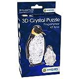 HCM Kinzel-3D Crystal Puzzle Pinguinpaar Puzle de Cristal en 3D, diseño de Pareja de pingüinos, Color carbón (59187)