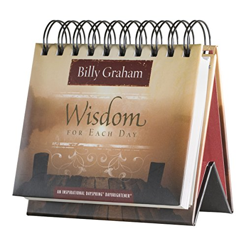 DaySpring Flip Calendar - Billy Graham Wisdom for Each Day - 75669 , Brown