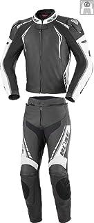 Büse Silverstone Pro 2 Teiler Motorrad Lederkombi 58 Schwarz/Weiß