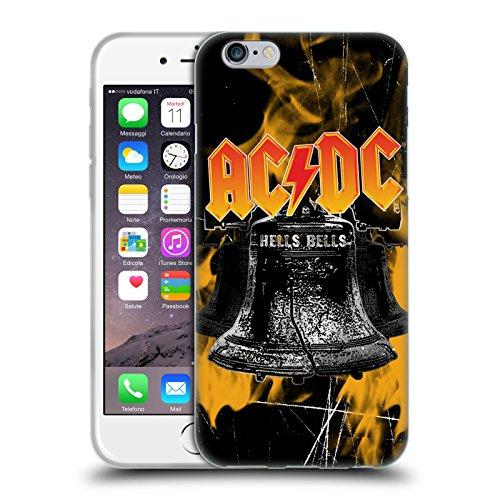 Head Case Designs Ufficiale AC/DC ACDC Fiamme E Campane Logo Cover in Morbido Gel Compatibile con Apple iPhone 6 / iPhone 6s