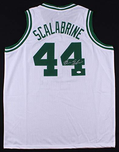 Brian Scalabrine Autographed Signed White Celtics Jersey (JSA) Boston Forward (2005 2010)